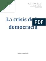 La Crisis de La Democracia