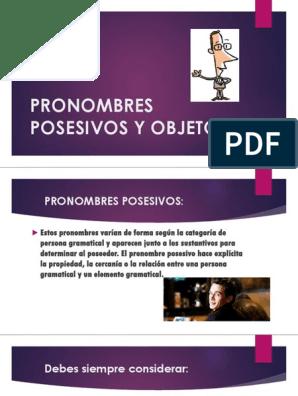 Pronombres Posesivos Y Objeto Verbo Pronombre