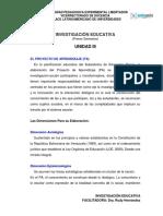 Instrucciones Unidad III PA Investigación Educativa.