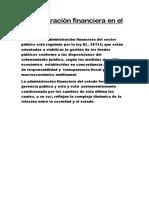 Administración Financiera en El Perú