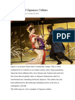 138 Types of Japanese Culture