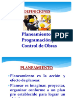 planeamiento y control de obras