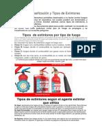 Definición y Tipos de Extintores