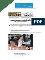 3 Maneiras Simples de Inspirar Seus Funcionários _ Jornal Do Empreendedor