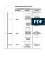 Metodolog a Cuantitativa cronograma