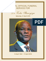 Skweyiya Funeral Programme