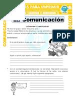 Ficha Definicion de Comunicacion Para Sexto de Primaria