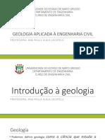 Geologia - Aula 2 - Introdução a Geologia