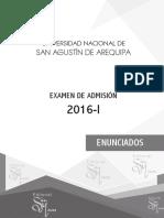 Examen 2016-i Unsa Arequipa