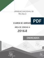 Examen 2016-II Unt Ciencias Trujillo