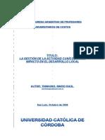 Actividad Cunícola y Su Impacto en El Desarrollo Local
