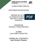 Reporte de Lectura Calidad de La Educación(1)