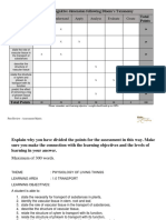 Assessment Matrix Template
