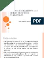 Sustancias Extractivas de Los Recursos Forestales