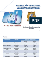Calibración de Material Volumetrico