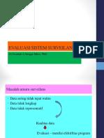 2. Evaluasi Sistem Surveilans