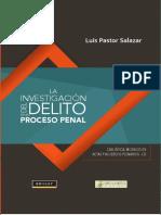 INDICE LA INVESTIGACIÓN DEL DELITO en EL PROCESO PENAL Casuística, Modelos de Actas y Acuerdos Plenarios