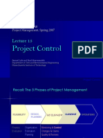 Lecture 15 Project Control