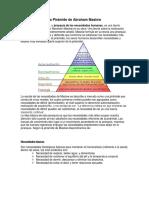 La Pirámide de Abraham Maslow