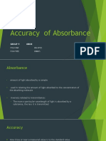 Accuracy of Absorbance
