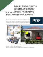 Descarga Planos Gratis Para Construir Casas de 42 m2 Con Fachadas Realmente Modernas