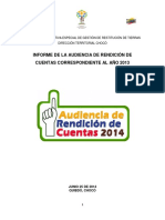 Choco Informe Final Audiencia de Rendicion Cuentas 2013