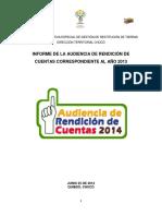 Choco Informe Final Audiencia de Rendicion Cuentas 2013