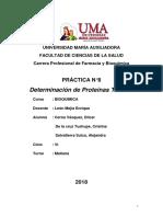 Informe Nº 8 Bioquímica Proteinas Totales y Albúmina