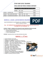 Course Structure of Laptop Chip Level Training