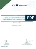 Fabrication Tolerances 51G14r1