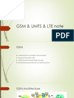 Gsm & Umts & Lte Note