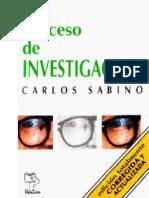 El Proceso de Investigación - Carlos Sabino