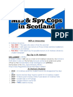 MI5 & Spy Cops in Scotland