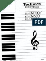 Technics Kn650 User Manual