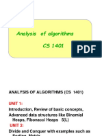 1-Analysis and Design f Algorithms