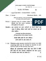 Ll.b. III Paper Lb 3033 Taxation i(Oc) 6871