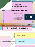 ISC 100_2.Asas Akidah_Rukiah