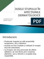 Produsele Stupului În Afecțiunile Dermatologice Powerpoint