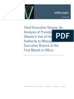 Analysis Obama's First Month as President