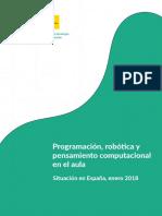 Pensamiento Computacional Fase 1 Informe Sobre La Situación en España