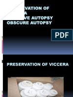 Preservation of Viccera