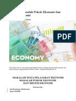 Makalah Masalah Pokok Ekonomi Dan Sistem Ekonomi
