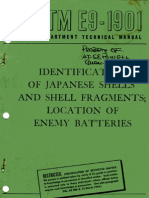 TM E9 1901 Identification of Japanese Shells & Shell Fragments