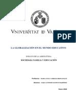 La Globalización en El Mundo Educativo. P.a. Guinot Martinez