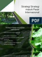 9.Strategi Strategi Masuk Pasar Internasional