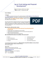 """""""NGO_Training_on_Fundraising_and_Proposal_Development"""""""