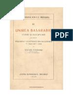 Ciobanu - Unirea Basarabiei PDF
