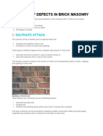 Sources of Defects in Brick Masonry