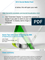 Some Tips With Laser Scanner for BIM - AU 2014
