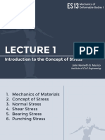 Lecture 1 - Concept of Stress